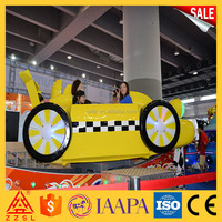 indoor playground ride electric u shape track flying car