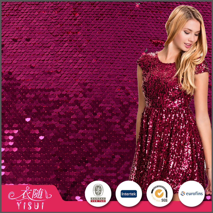 Online shopping cheap popular wholesale reversible sequin fabric for dress