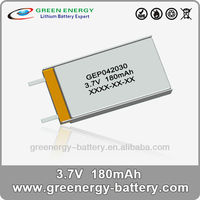 lithium polymer battery 3.7v 402030 with 180mah