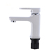 White Color Bathroom Taps Mixer Single Handle Basin Faucets for Bathroom Hot and Cold Water Basin Faucet Mixer