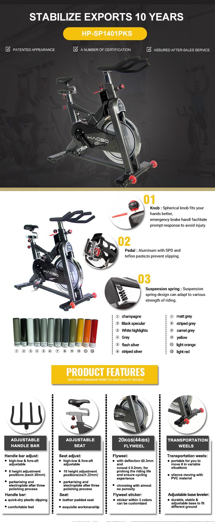 Fábrica corpo balanço forte bicicleta de giro Comercial, equipamentos de ginástica ciclo de centrifugação
