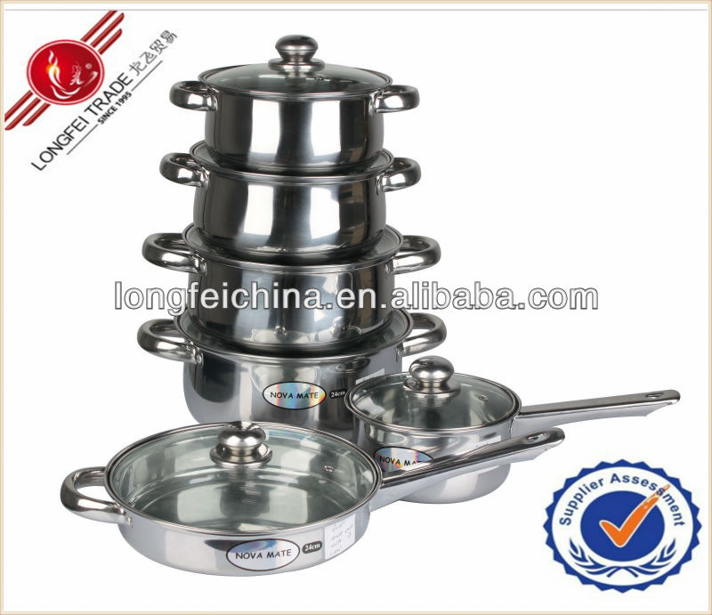 Professional good quality stainless steel steamer and cooking pots