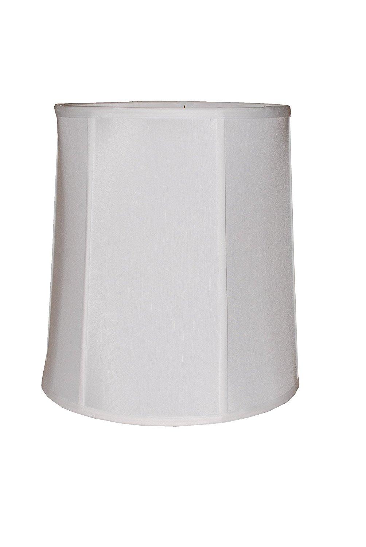 """18"""" white silk drum lamp shade"""