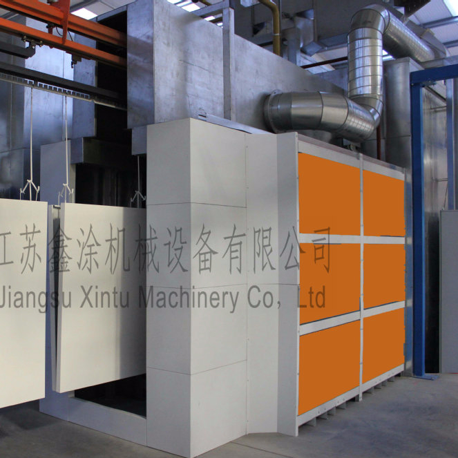 Aluminium extruded sections Automatic electrostatic Powder Coating Line Assembly Line