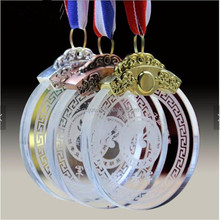 New Design Basketball Good product Crystal Trophy Awards Medal