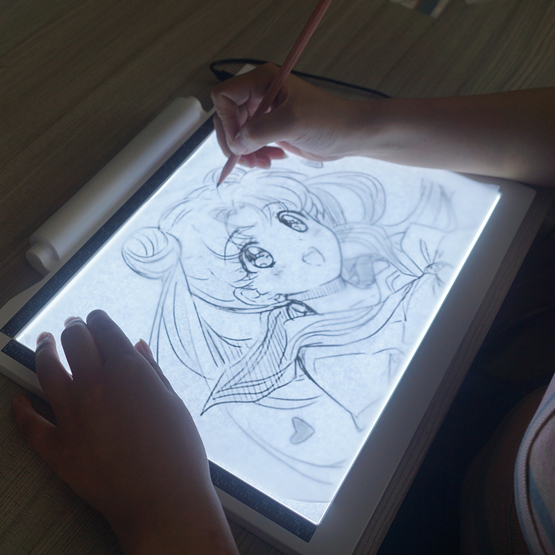 A4 LED Tekentafel LED Tattoo Tracing Board Acryl Kids LED Light Pad Met Batterijen Functie