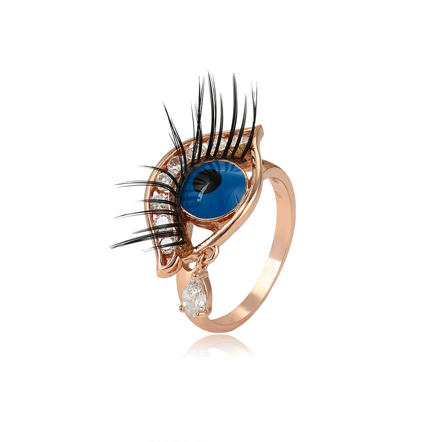 15325 Xuping new arrival women jewelry eye shaped finger ring with zircon