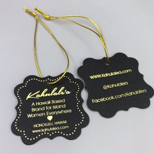Screen Printing Clothing Hang Tag Labels/Hangtag/PVC Tags/Price Tags