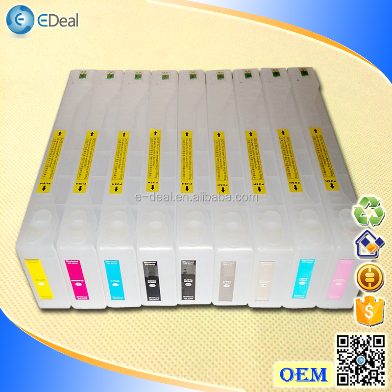 For Epson 7880 Empty refill ciss ink cartridge with chip resetter and maintenance tank