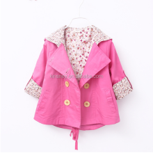 KS10006A 2016 new baby girls outwear fashion trench coats