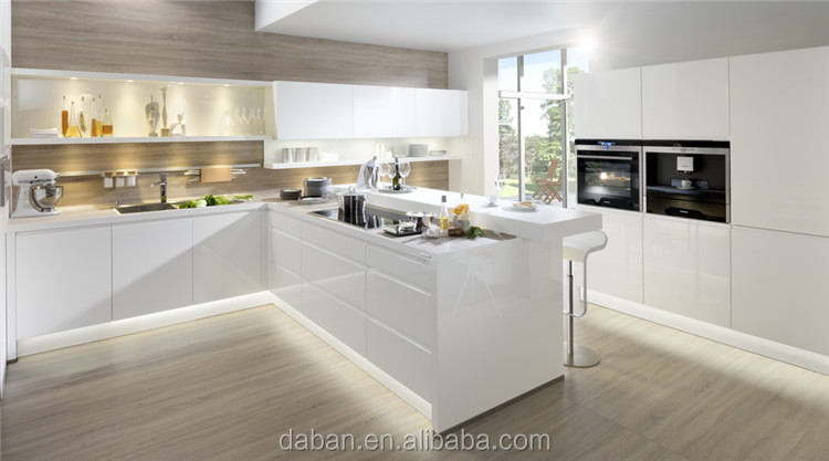 High Gloss Painting Mdf Kitchen Cabinet Design