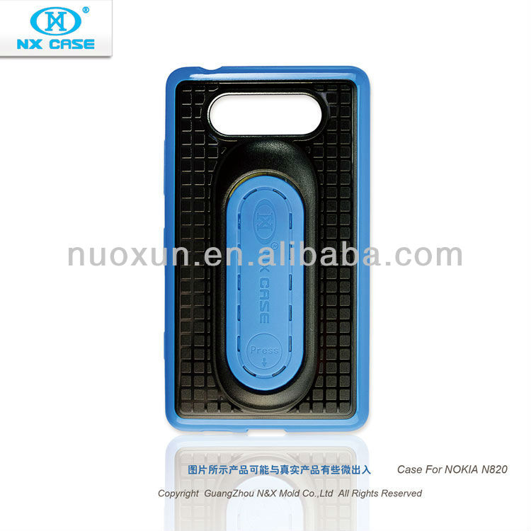 2013 Great fashion design TPU+PC stander mobile phone case for Nokia N820