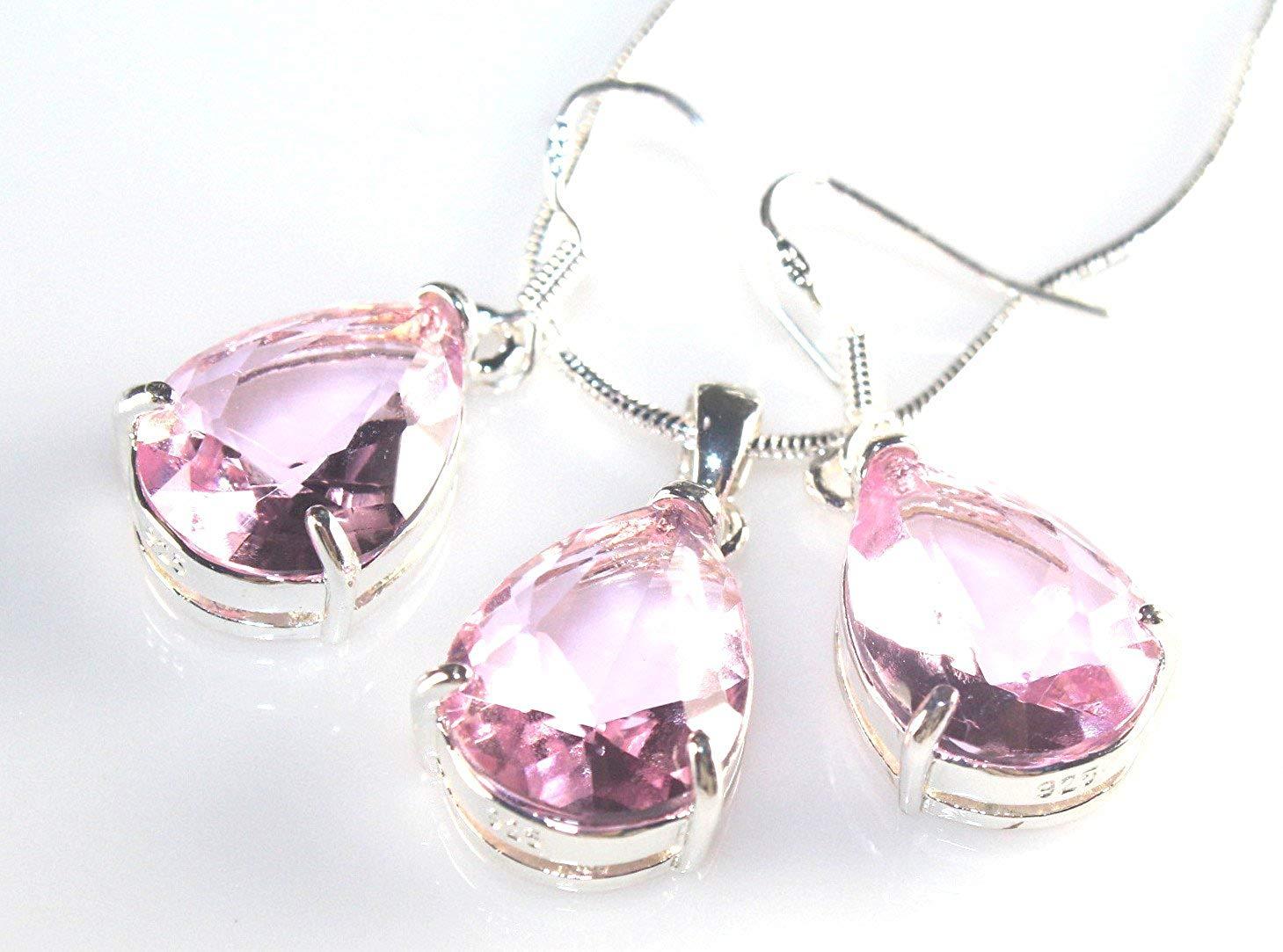 SilverstoneTX SILVER Elegant White Fire Opal Teardrop Stud Earrings Jewelry Woman Gift