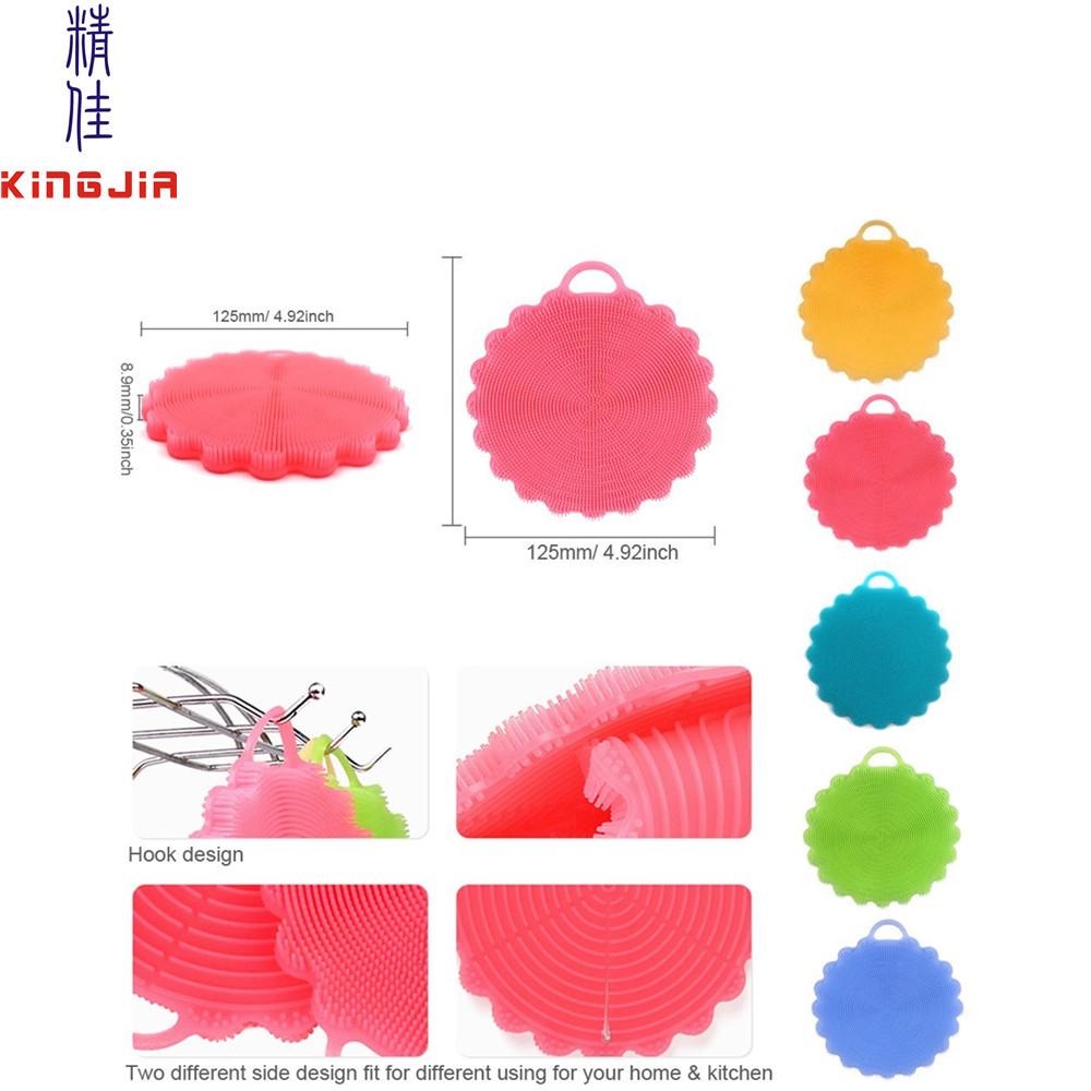 Multi Purpose Silicone Scrubbers,Silicone Dish Scrubber,Fruit And ...