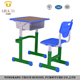 Single kids school desk chair set comfortable school desk and chair children plastic resin chairs for sale