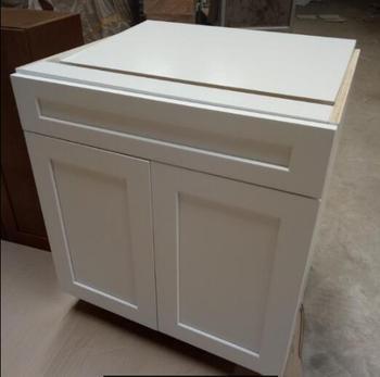 White Shaker Wooden Kitchen Sink Base Cabinet Buy Cherry Wood
