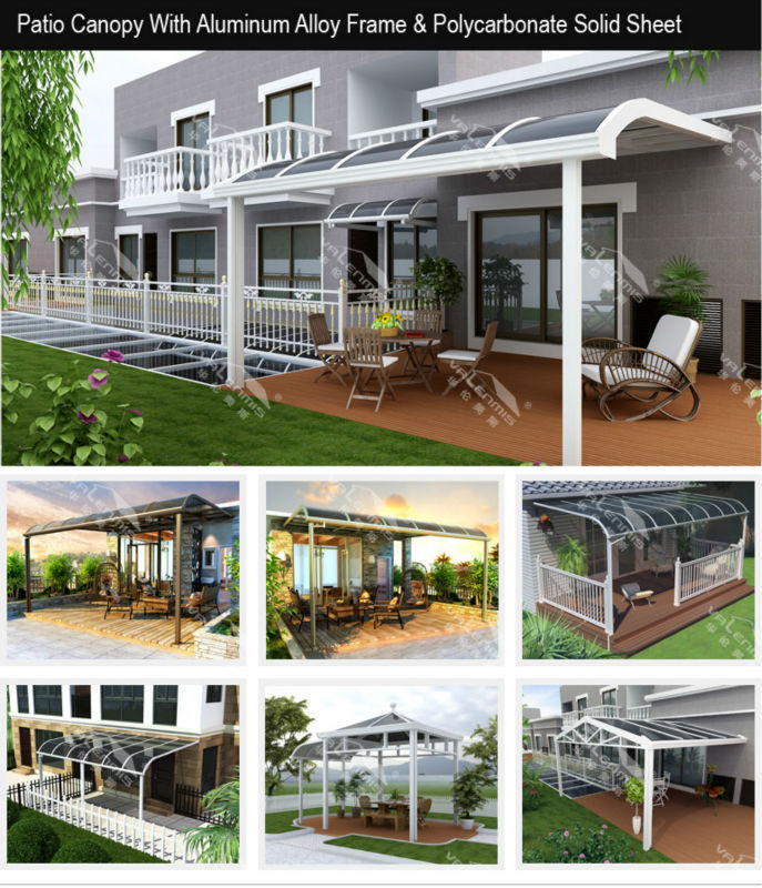 Modern Aluminum Rain Awning Supports Door Canopy For Window Or Patio Cover