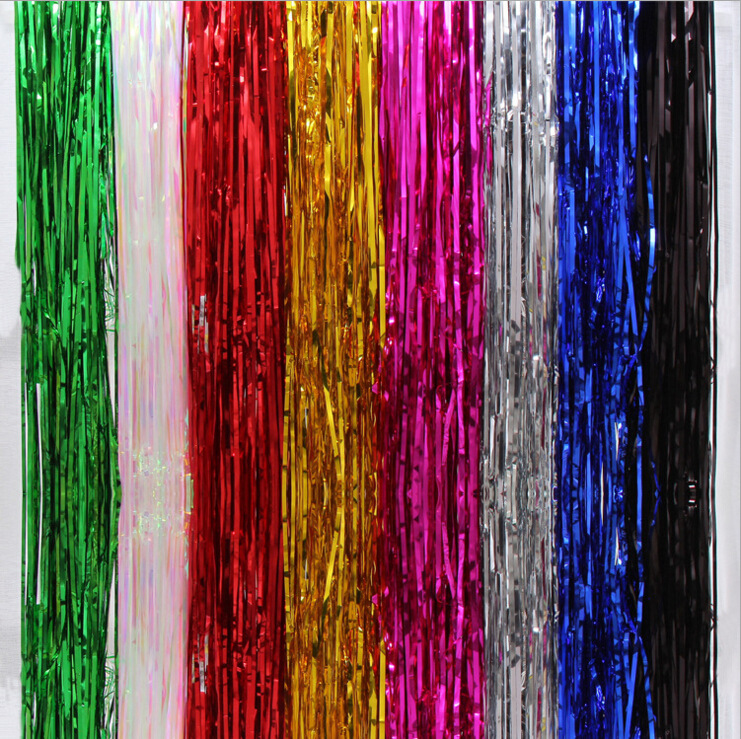 DIY festival celebration wholesale colorful christmas tinsel curtain