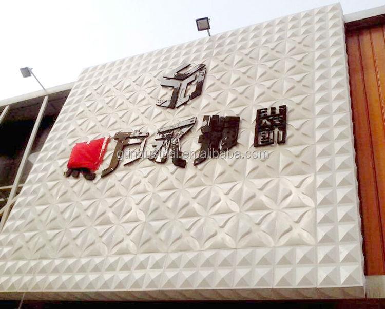 Plastic Exterior Wall Panel Wallpaper,3d Polyurethane Faux Stone ...