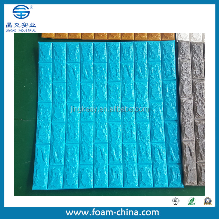 Shanghai Youngbo brand Polyethene PE XPE foam sponge material light weight wall 3d wall and floor tile