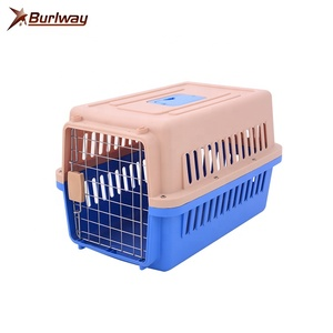 Luxury sublimation plastic sliding airline approved dog pet travel carrier