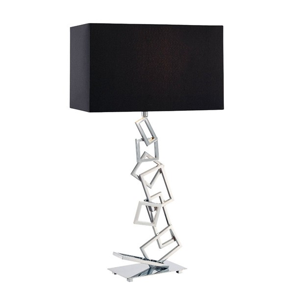 Stainless steel finished table lamp small