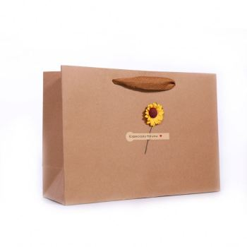 China Manufacturer Wholesale Custom Logo Small Brown Bag, Luxury Printed Recycled Custom Paper Shopping Bag