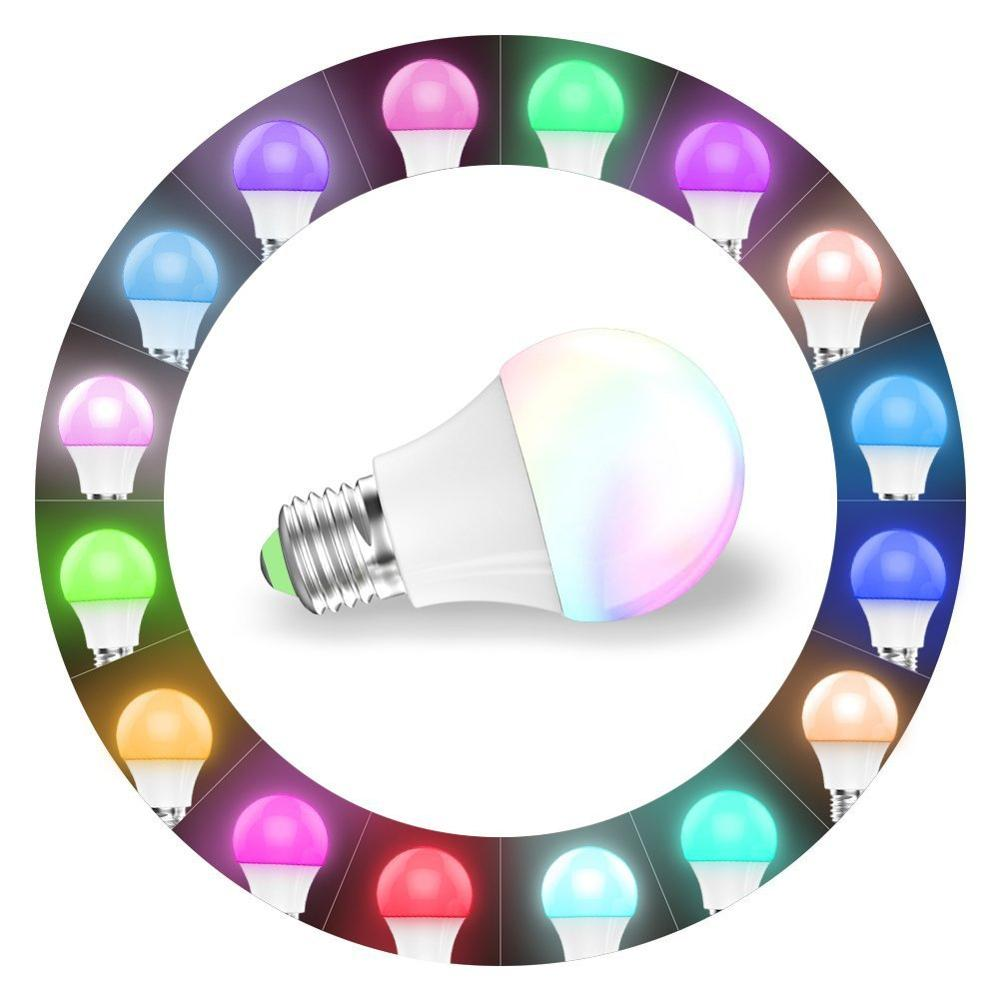Mini Smart led light WIFI bulb work with alexa remote controlled by app sound control RGBW home indoor lighting <strong>E27</strong> 4.5w 350Lm