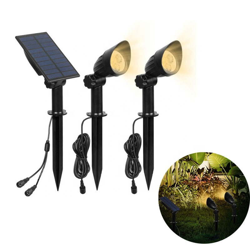 Outdoor Solar LED <strong>Spotlight</strong> with 2 pack