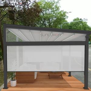 Waterproof Motorized Retractable Pergola Aluminum Canopy With Windshield