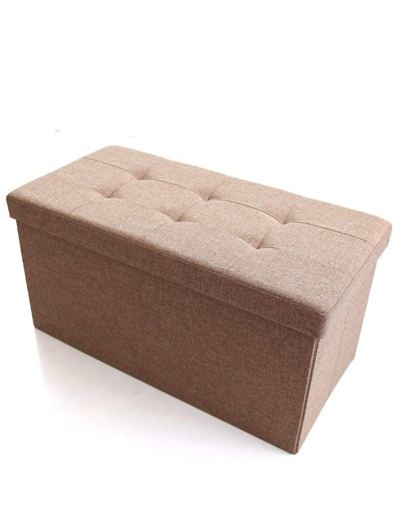Barstools ZHANGRONG- Multi-functional Storage Stool Cloth Folding Storage Box Can Take People Storage Box Rectangular Sofa For Shoes Stool Sofa Stool (Color Optional) (Color : A)