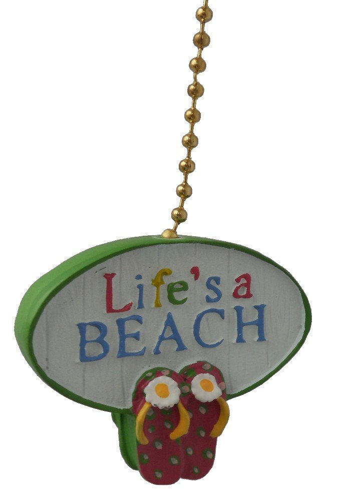 Clementine Design Lifes A Beach Ceiling FAN PULL light chain extender extension