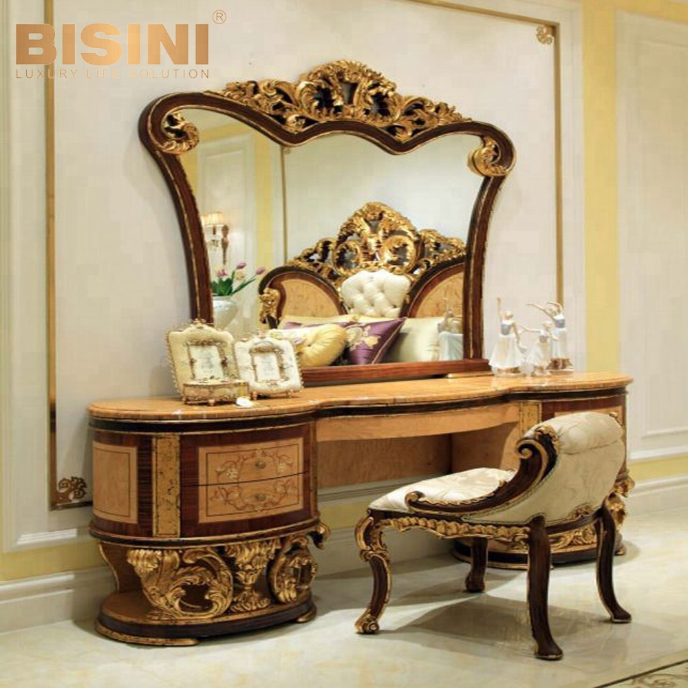 Bisini Luxury Arabic Style Antique Marble Top Vanity Dresser With Mirror  For Wedding Bedroom Set - Bf07-10084 - Buy Antique Vanity Dresser With ...