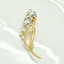 China wholesale gold brooches with rhinestone for clothes