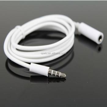 Verlängerungskabel 4 polig 3,5mm Jack Männlich Zu Weiblich Stereo Audio Kopfhörer Aux Kabel Buy Audio Kabel,Audio Kopfhörer Kabel,3 Product on