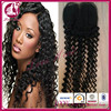 2015 New textures curly Cheap Brazilian Human Hair 16inch Lace Closure
