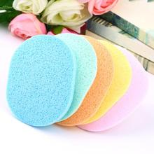 Hot Selling Natural Wood Fiber Face Wash Cleansing Sponge Beauty Makeup Tools Accessories