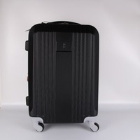 Super light weight spinner 4 wheels tsa lock aluminum black color ABS 20inch cabin trolley suitcase luggage