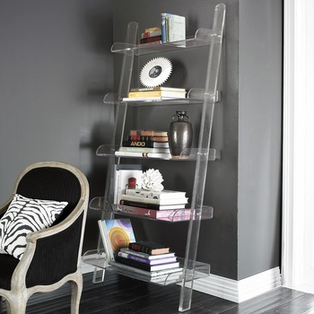 Transparent Acrylic Bookshelf With 5 Layers