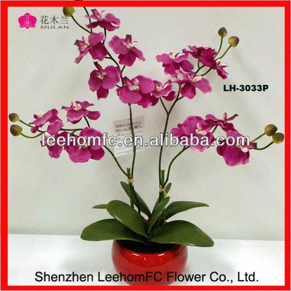 Handmade Natural Decorate Silk Stocking Flower In Vases