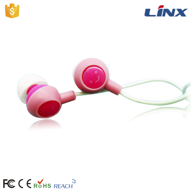 China alibaba supplier earphone cute in ear cheap colourful stereo wired earbuds