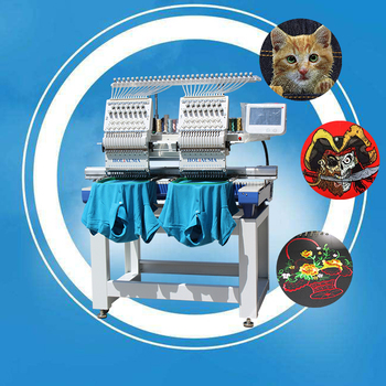 HO1502 High Speed 2 Head Single Needle Chain Stitch Flat Embroidery Machine CBL New Design Embroidery Machine For Sale