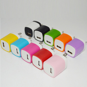 Colorful Finger print US Plug 1A USB Power Wall Home Travel phone Charger Adapter for smart phone