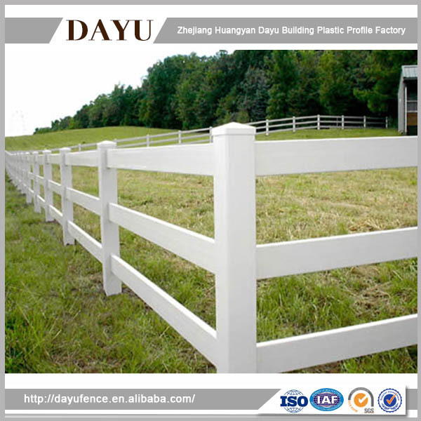 Easy Install Farm Vinyl 3 Ranch Rail Horse Fence