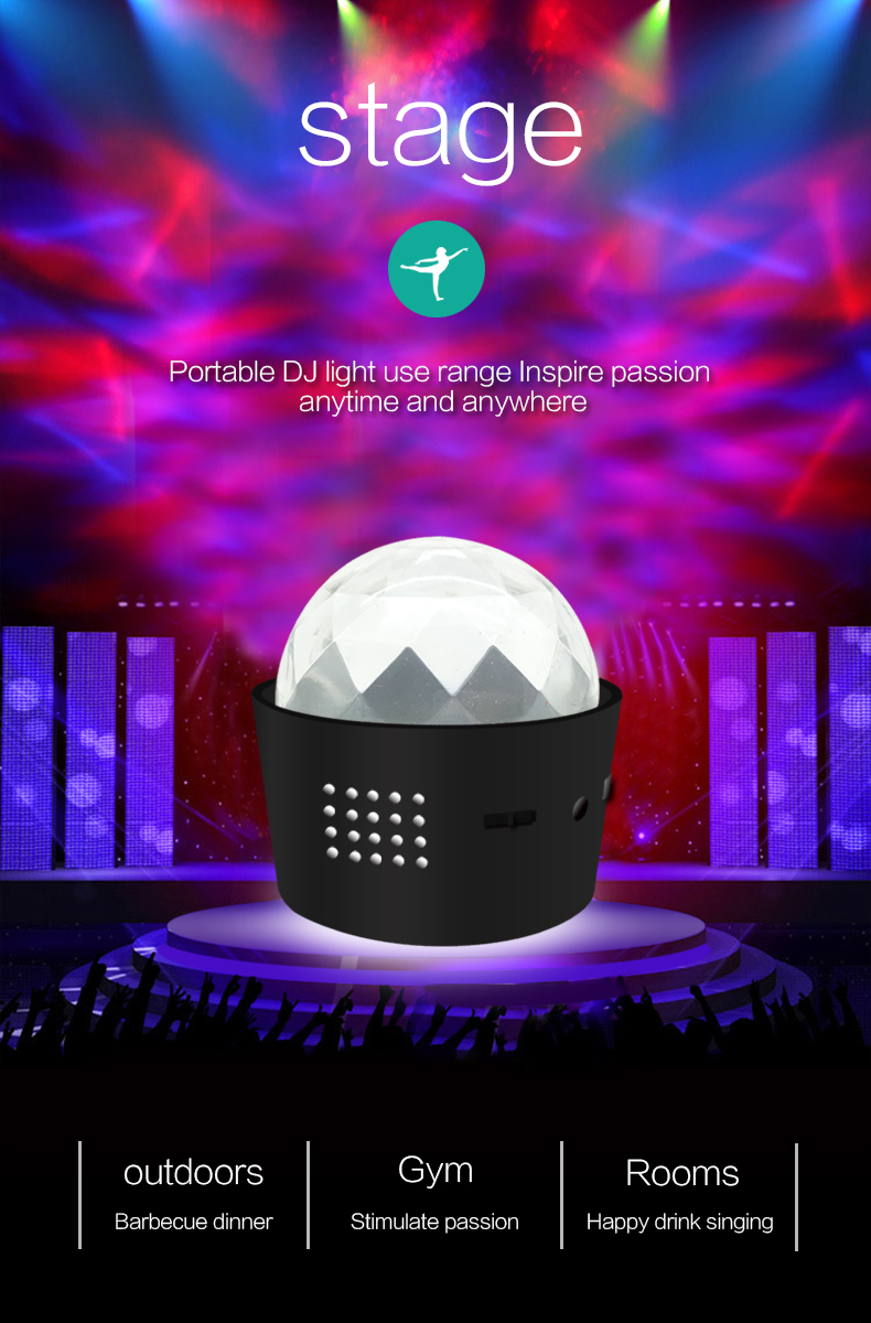 2019 new product third dynasties portable D33-1 DJ headlight LED light carry around in any where