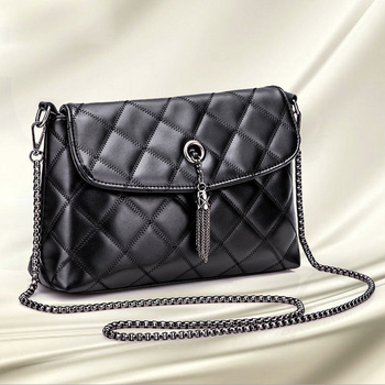 Wholesale Grid lines pu leather cross body bags women