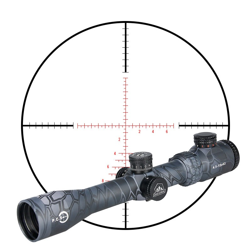 canislatrans tactical sight airsoft optic rifle scope TM4.5-18x40 night vision riflescope with rangefinder for hunting CL1-0287