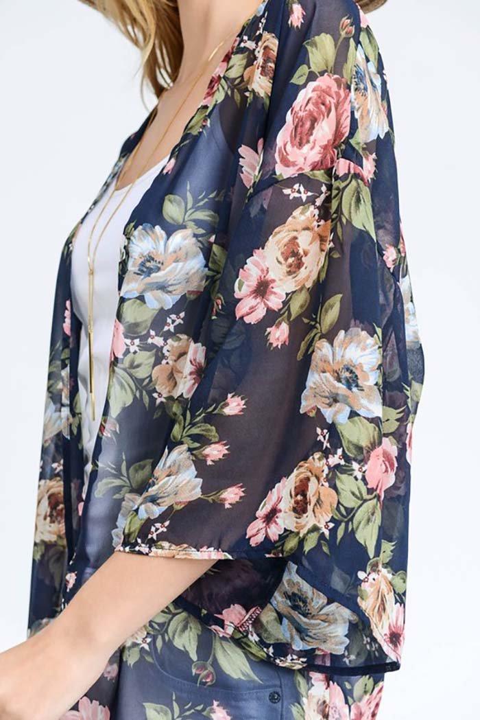 0b6d152bf46 2018 floral printed boho styles kimono for women summer beach wear fashion  long kimono