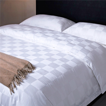 OEM beautiful pure cotton jacquard hotel bed duvet cover