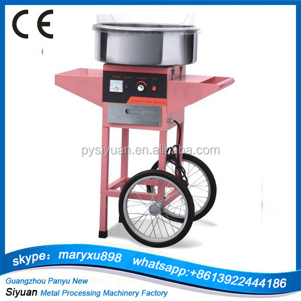 Candy Floss Machine / Cotton Candy Maker with Pink Cart/commercial candy floss machine